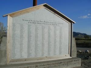 Memorial at Heart Mountain
