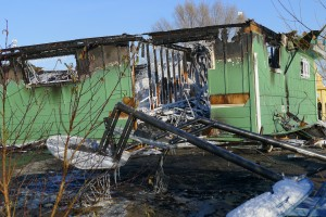 Lao Buddhist Temple of Colorado after the Dec.6 fire.