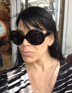Rene Graziano, mob wife wearing Megumi-O sunglasses