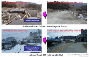 Miyagi Prefecture before and after earthquake