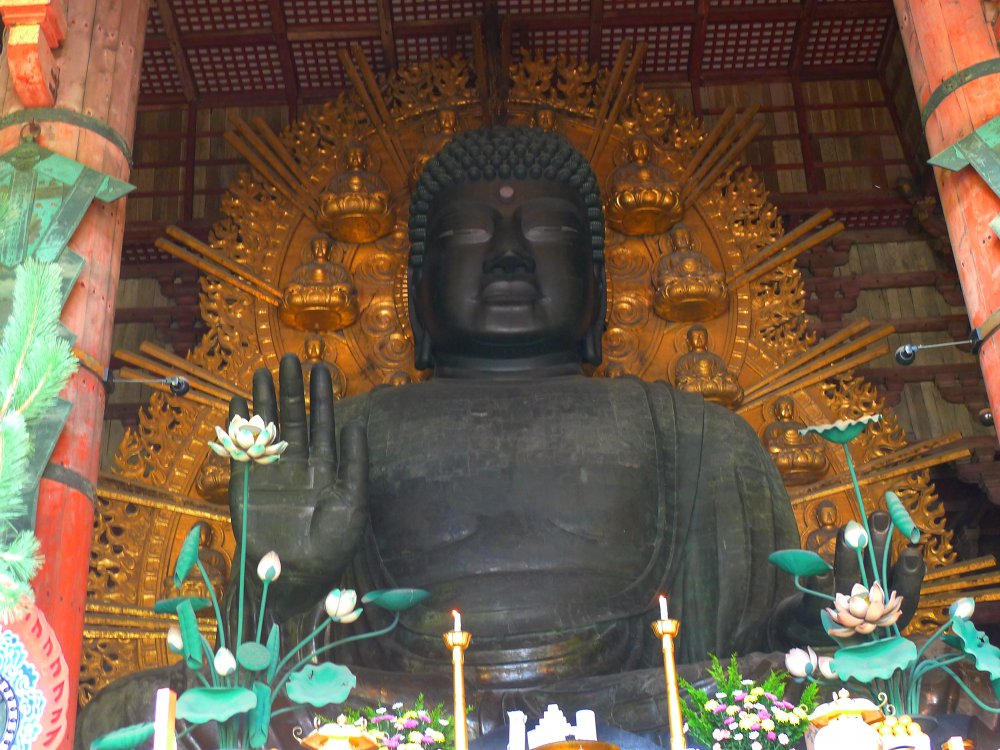 Bronze Buddha at Todaiji Temple, Nara, Japan