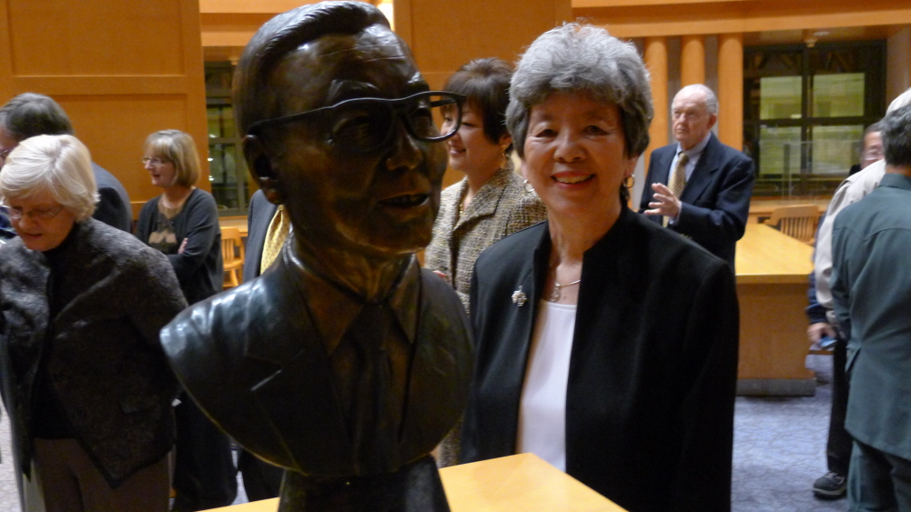 Bill Hosokawa bust unveiled at the Denver Public Library